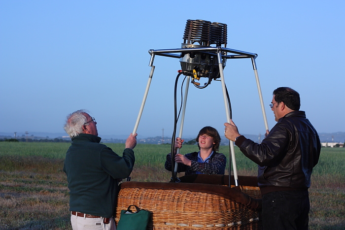 ballooning involves some work to set the equipment up properly