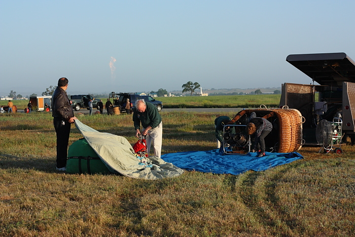 picture of pre-flight balloon setup