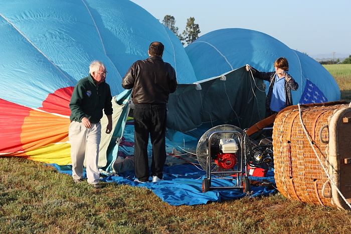 inflation of balloon before flight