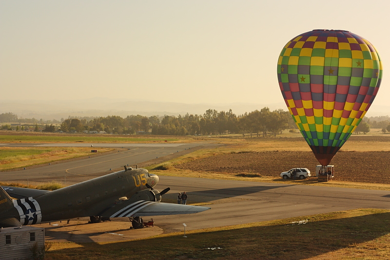 Ballooning at the Estrella WarBird Museum