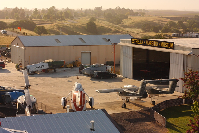 Aerial view of the Estrella Warbird Museum