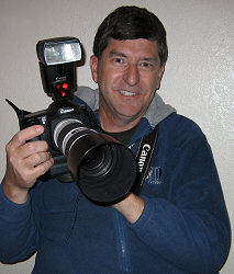 Jim Zim with his Canon 10D digital camera