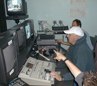 Jeff and I in the control room