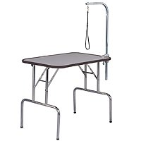 Grooming table with arm and noose
