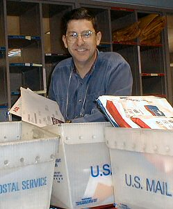 Jim Zim in the Diablo Canyon mailroom in the 1990s