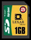 Lexar high speed 1gb SD memory card