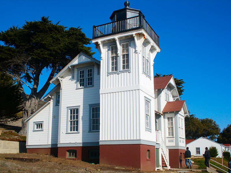 the lighthouse at Pt. San Luis