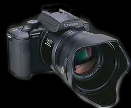 Lumix DMC-FZ20 with lens hood attached