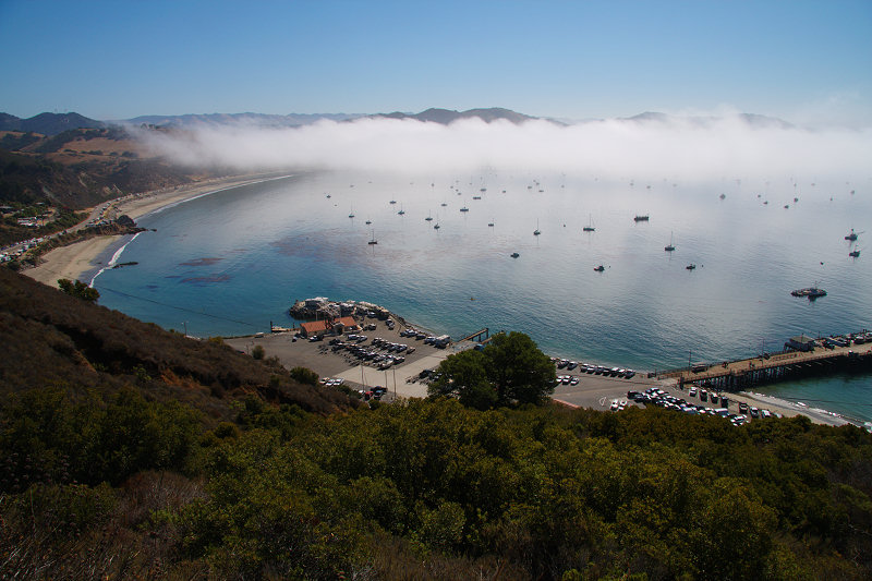 Fog over Port San Luis