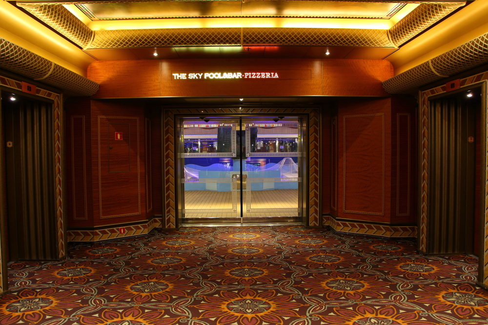 Carnival Conquest elevator lobby