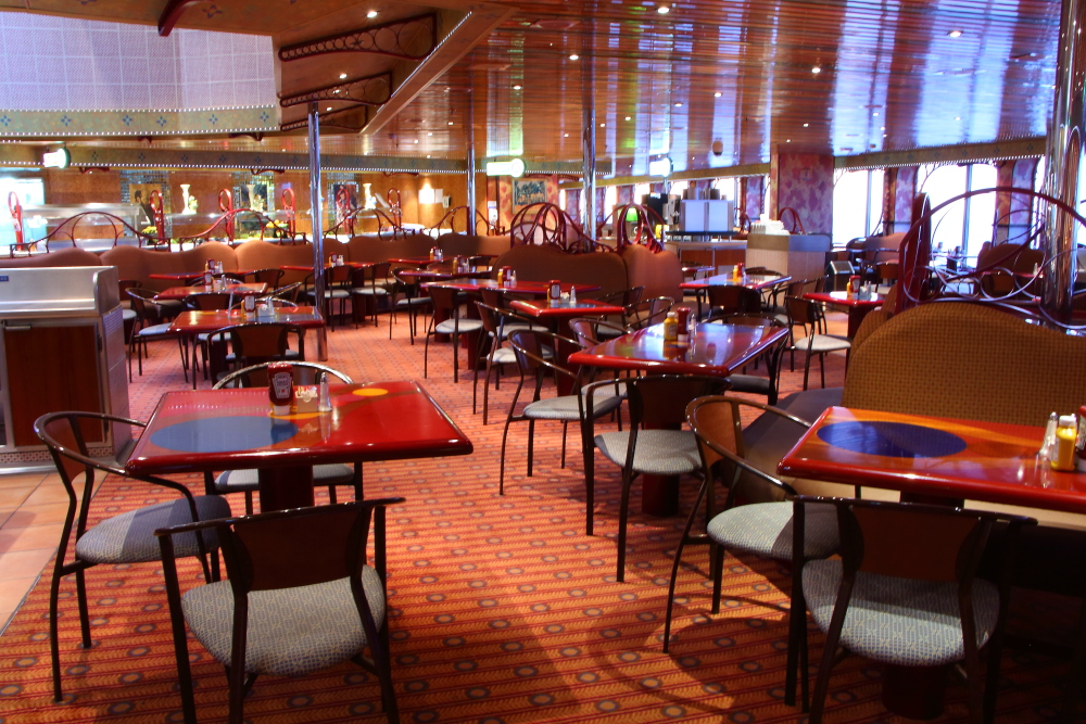 Cezanne buffet restaurant on Carnival Conquest