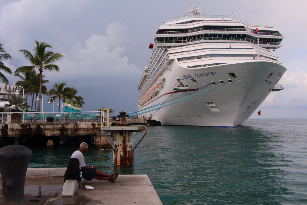 Carnival Conquest docked in Key West, Florida