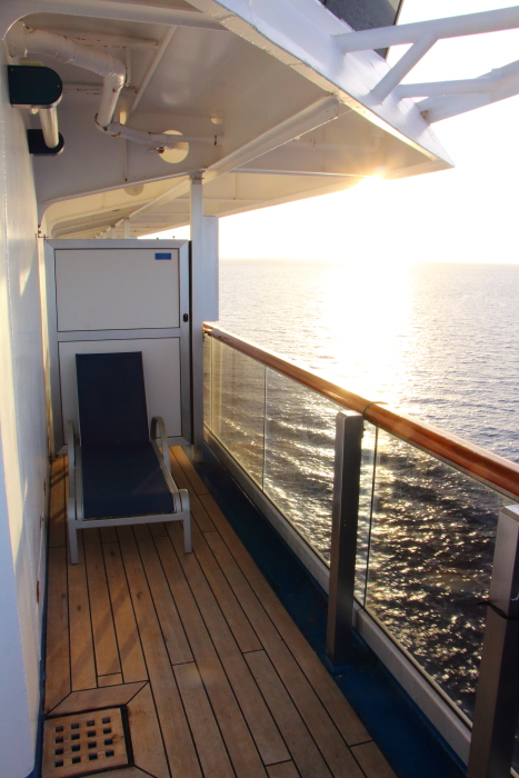 Carnival Conquest cabin 8455 aft wrap balcony
