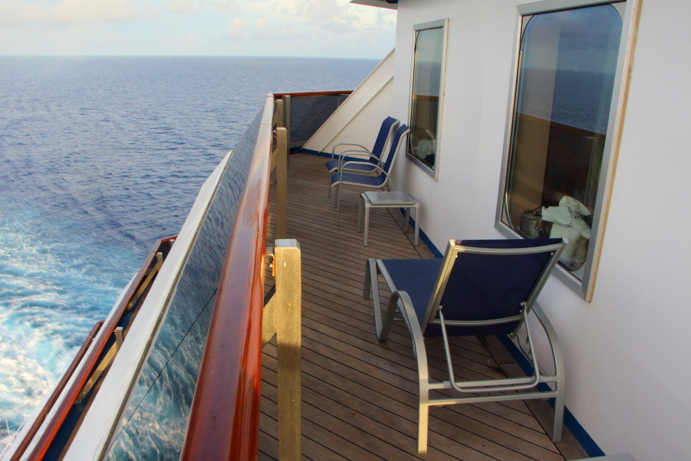 Aft wrap balcony cabin 8455 on Carnival Conquest