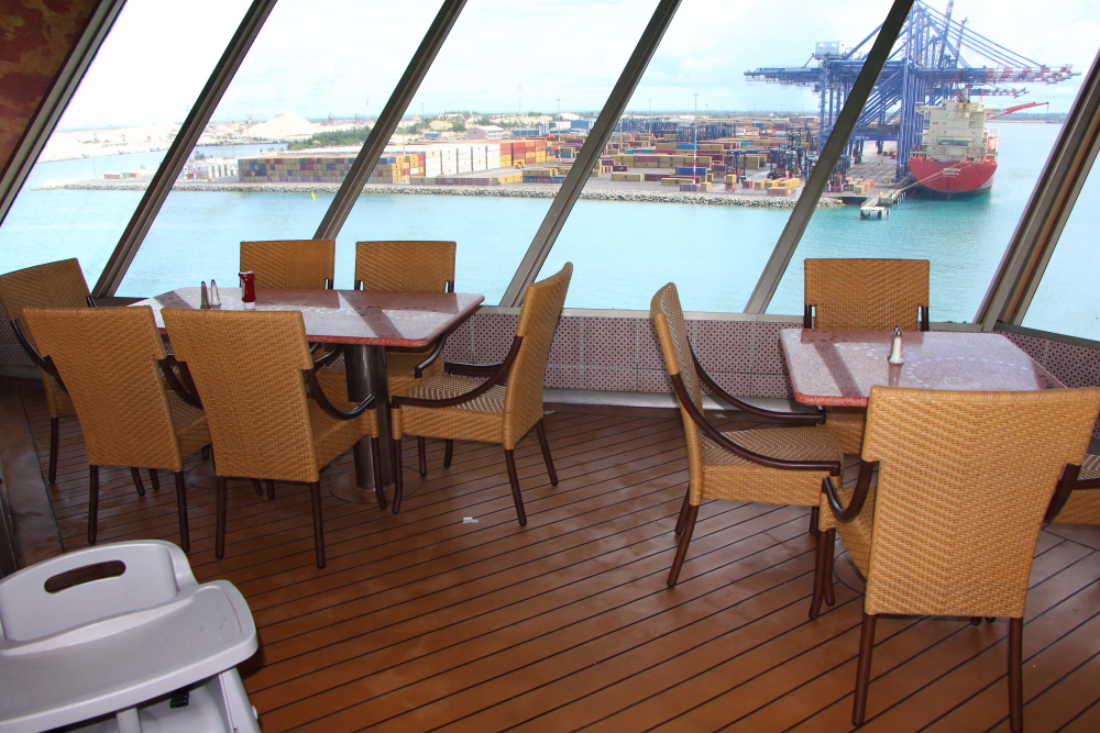 aft Lido deck dining area on Carnival Conquest