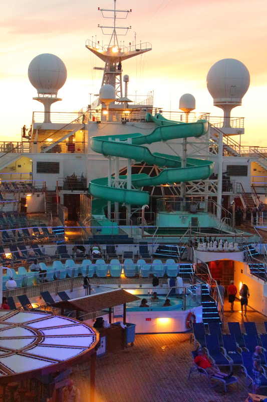 Carnival Conquest cruise ship pool deck