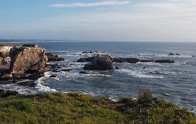 A photo of the California coast at Pismo Beach
