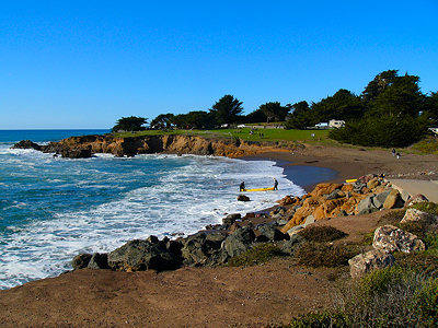 The coast at San Simeon, California