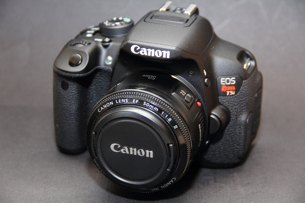 Canon Digital Rebel T5i with nifty fifty 50mm lens
