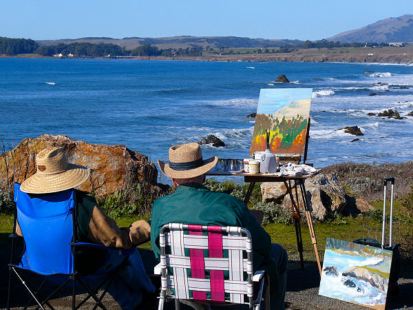 Photo of California coast from Panasonic digital camera DMC-FZ10