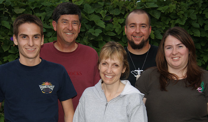 A July 2007 photo of the Zim family